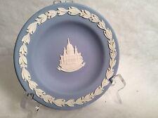 """Vintage Wedgwood Blue Jasperware St Pauls Cathedral sauser 4-1/2"""""""