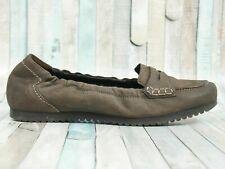 PAUL GREEN ☘ Ballerinas Gr. 40,5 (7) Damen Leder Grau Flats Schuhe Shoes Leather
