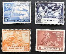 1949 Basutoland Universal Postal Union Set of 4 MUH Full Original Gum