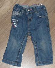 Baby Jungen Jeans von C&A - mit verstellbaren Innenbund - Blau - Größe 74