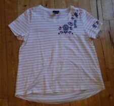 NWT Women's Pink Stripe RXB Embroidered Top Size Large L