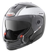 Caberg Hyper X Mod Full Face DVS Motorbike Motorcycle Helmet Chin Bar Silver XS