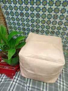 Authentic MOROCCAN Square Poufs  Leather ottoman pouf