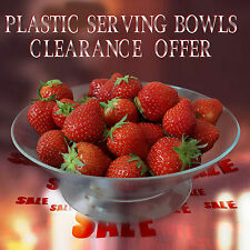 5 x Medium Clear Hard Plastic Serving Bowl For Hot/Cold Food- Party Disposables