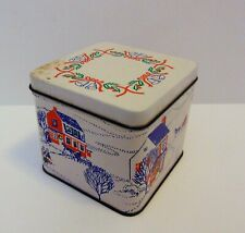Interpur 1985 Container Paper Christmas Decorative Round Coasters in Tin