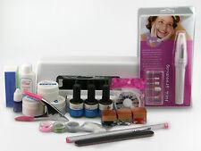Maniküre Set - UV Gel Kit, Nailart, UV Lampe + Nagelfräser + Klipser + Zubehör+