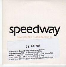 (EB556) Speedway, Save Yourself / Genie In A Bottle - 2003 DJ CD