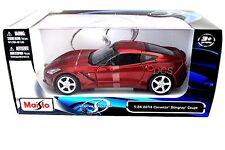 Maisto 2014 Chevrolet Chevy Corvette C7 Metallic Red 1/24 Diecast Car 31505