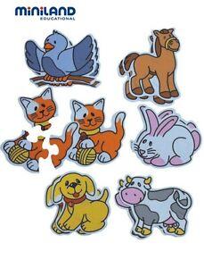 Kids Jigsaw Puzzles With Matching Pattern Mats ~ Washable ~ 2+yrs ~ Miniland BN