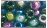 500 Mixed Cool Pearl Pony Beads, IDEAL FOR DUMMY CLIPS, BRACELETS , HAIR BRADING