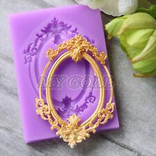 Retro Relief Mirror Frame Silicone Fondant Mould Cake Decor Gumpaste Sugarcraft