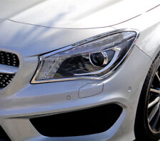 Mercedes CLA C117 Chassis Chrome Headlight Trim Bezels by Luxury Trims 2013-2020