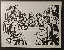 "Jesus Last Supper 11"" x 8.5"" Custom Stencil FAST FREE SHIPPING"