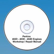 Perkins 402D, 403D y 404D motores Taller reparación Manual en CD Pdf