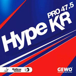 GEWO Tischtennisbelag HYPE KR PRO 47.5 TT-Belag Noppen innen Made in Germany