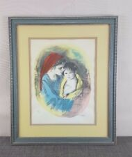 M. Maurice Untitled watercolor Lithograph of Mother with Child #67 of 250