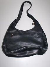 Authentique Longchamp femme vintage en cuir noir souple Épaule Slouch Sac Seau