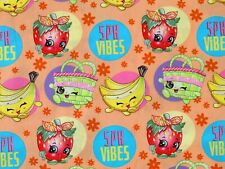 New listing Shopkins Fabric Spk Fruit Vibes Grocery 100% Cotton Springs Creative By The Yard