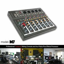 Professional 7 Channel Live Mixing Studio Audio Sound Mixer Console Usb Us Stock