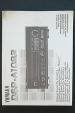 Yamaha dsp-a1092 Av Amplificateur orig. mode d'em Ploi / User Manual état