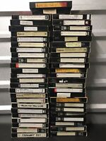 50 Pre-Recorded VHS Tapes - Sold As Used Blank/Record - Sitcoms & More, Shipfree