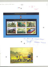 Mali #775, 779 Trains 1v M/S of 6 & 1v S/S Imperf Proofs on Collective Sheet