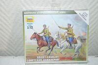 Maquette soldat cavalerie  Urss  Zvezda Model Kit  Soviet cavalry 1:72 Neuf