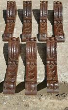 Set Of Seven Carved Oak Brackets