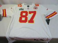 Kansas City Chiefs NFL Travis Kelce Nike Super Bowl LIV Game Jersey White Medium