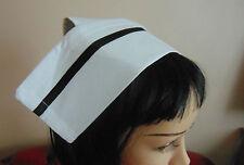 COTTON nurse HAT REGULAR STYLE CAP WITH 2 BUTTONS  -  COTTON new 40s 50s 60s