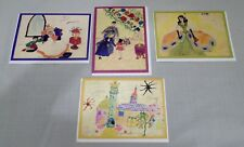 Blank Greeting/Note Cards Childhood Drawings Alona Frankel w Envelopes 4 cards