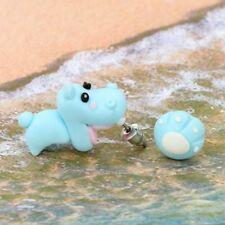 Cartoon Girl Dangle 3D Animal Asymmetric Cute Hippo Polymer Clay Earrings
