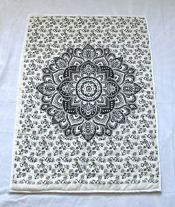 Baby Quilt Reversible Flower Printed Nursery Blanket Ombre Unisex Stitched Gift