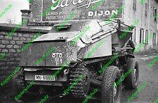 Altes orig. Foto Negativ Frankreich Saurer Panzer WH 133A