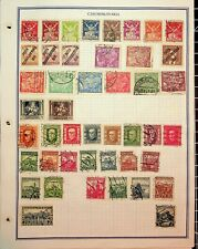 CZECHOSLOVAKIA: 395 STAMPS ON RULED STOCK SHEETS FROM EARLIEST TO ABOUT 1960s