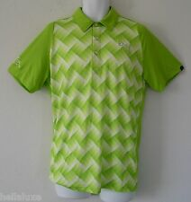 ~PRO TOUR ED~Puma Golf DUO SWING DS TECH GRAPHIC Polo RICKIE FOWLER Shirt~Mens M