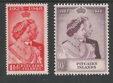 PITCAIRN ISLANDS THE  1948 GVI SILVER WEDDING PAIR FRESH  MNH CAT £42