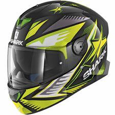 SHARK SKWAL 2 draghal luces led casco de motocicleta negro/verde