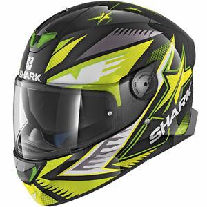 Shark Skwal 2 Draghal LED Lights Motorcycle Helmet Black / Green
