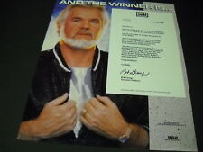 Kenny Rogers .And The Winner Is. 1986 Promo Poster Ad mint condition