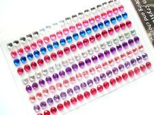 162 ROUND SELF ADHESIVE DIAMONTE GEMS 4mm MULTI COLOUR