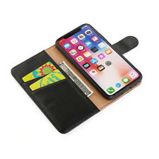 Genuine Leather Wallet Case for i Phone X / XS