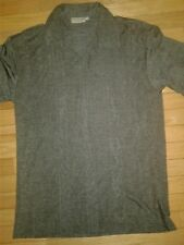 MEN RELAX FIT SHORT SLEEVES  GRAY POLO STYLE TEE-SIZE M