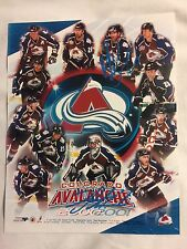 AUTOGRAPHED NHL 2000-2001 COLORADO AVALANCHE Team 8x10 PHOTO