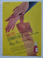 1945 Peggy Sage Red fingernail nail polish nude woman silhouette ad