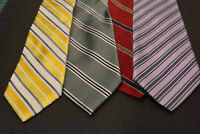 Lot of 4 STRIPED Thin/Skinny Mixed Brand Neckties, incredibly cheap! Grab it! F1