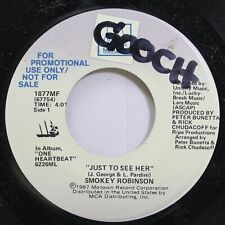 Soul Promo 45 Smokey Robinson - Just To See Her / Just To See Her On Motown
