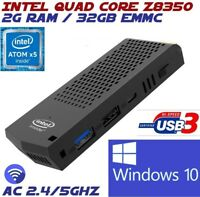 Intel Quad Core Z8350 2G 32GB AC Wifi Windows 10 Compute Stick Mini PC Desktop