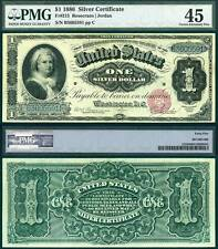 1886 $1 Silver Certificate FR-215 PMG Graded Choice Extremely Fine 45