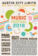 ACL 2018 Poster Austin City Limits 13x19 Music Festival Concert PRINT Texas ATX